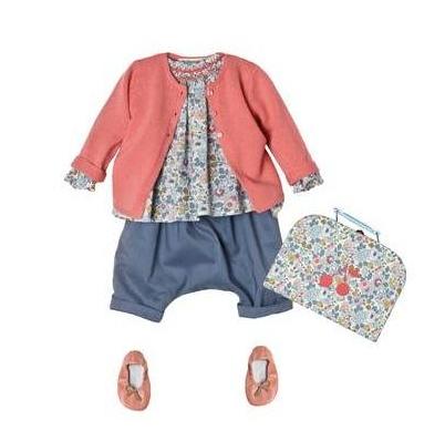 Look Bonpoint blouse griotte bleu aqua