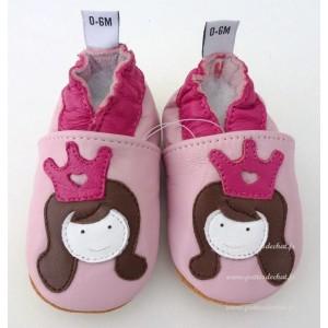 chausson-bebe-cuir-princesse