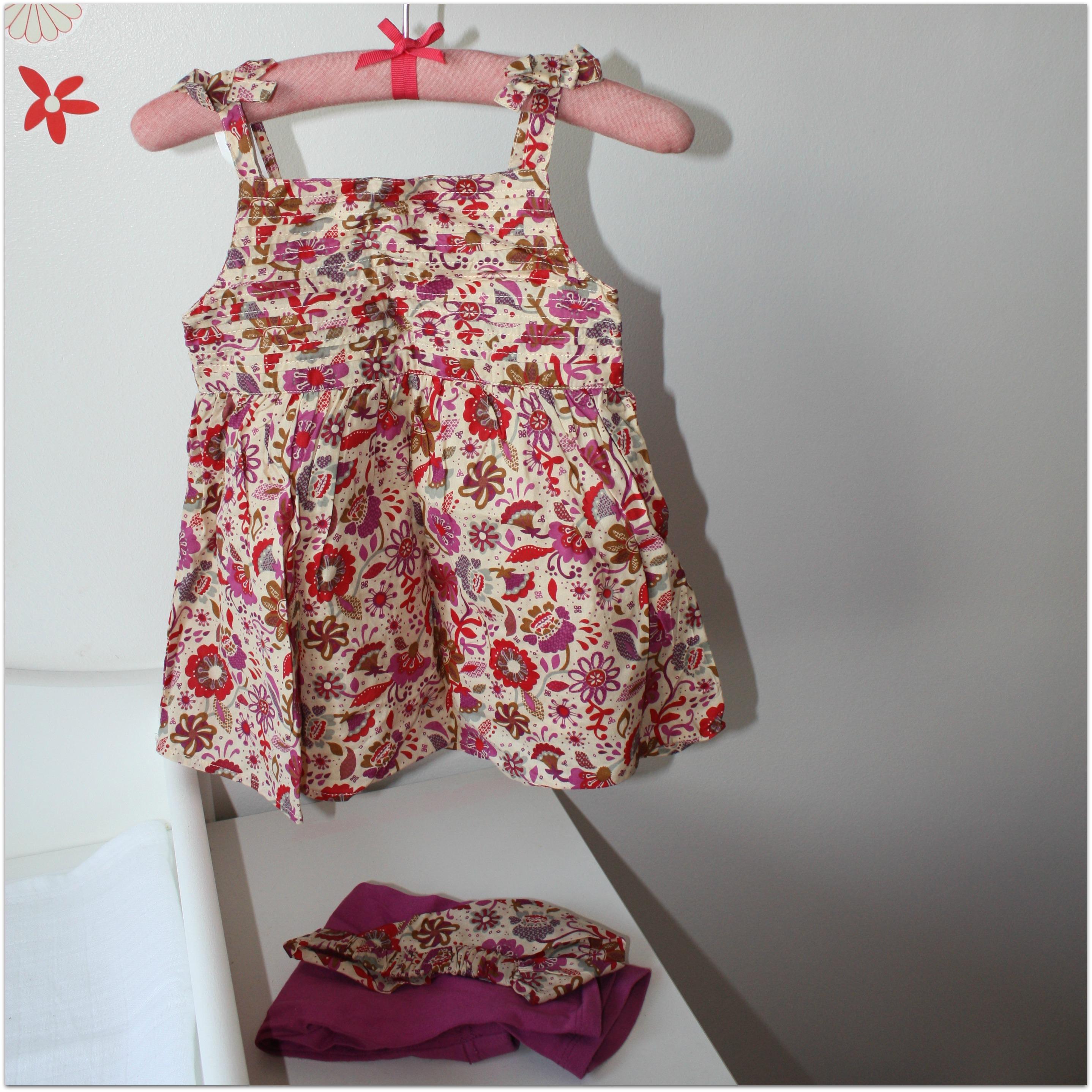 Ensemble robe, legging, bandeau- 18 mois
