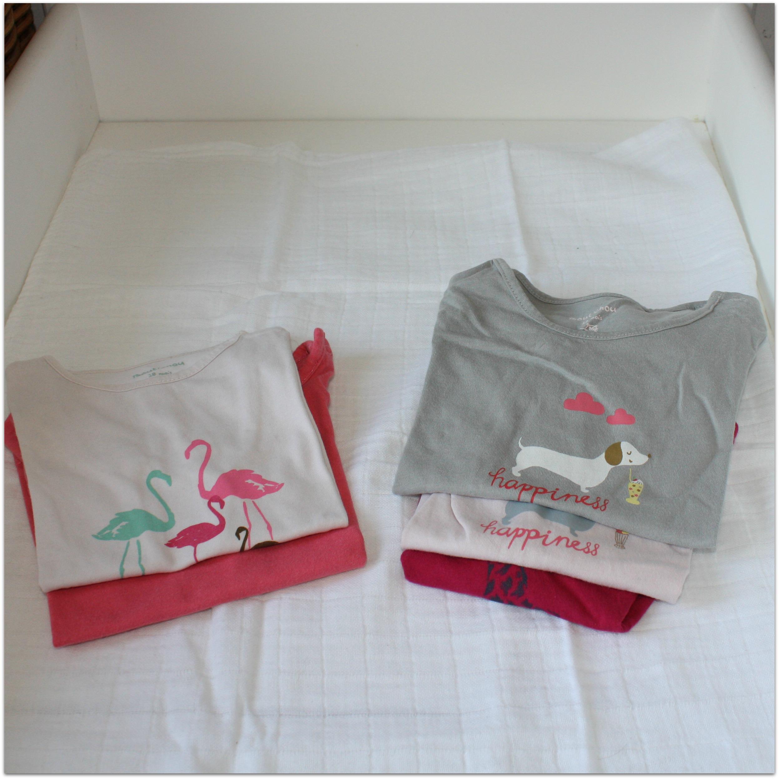 Lot 5 tee-shirts Boutchou - 18 mois
