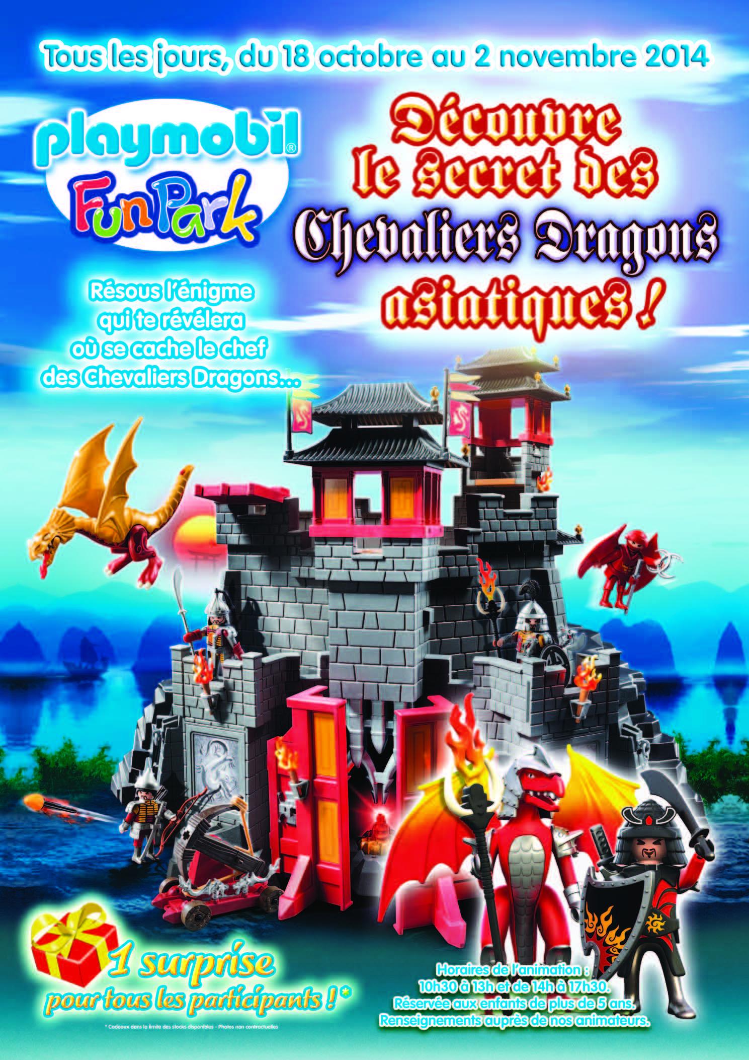 Animation Playmobil FunPark vacances Toussaint 2014)