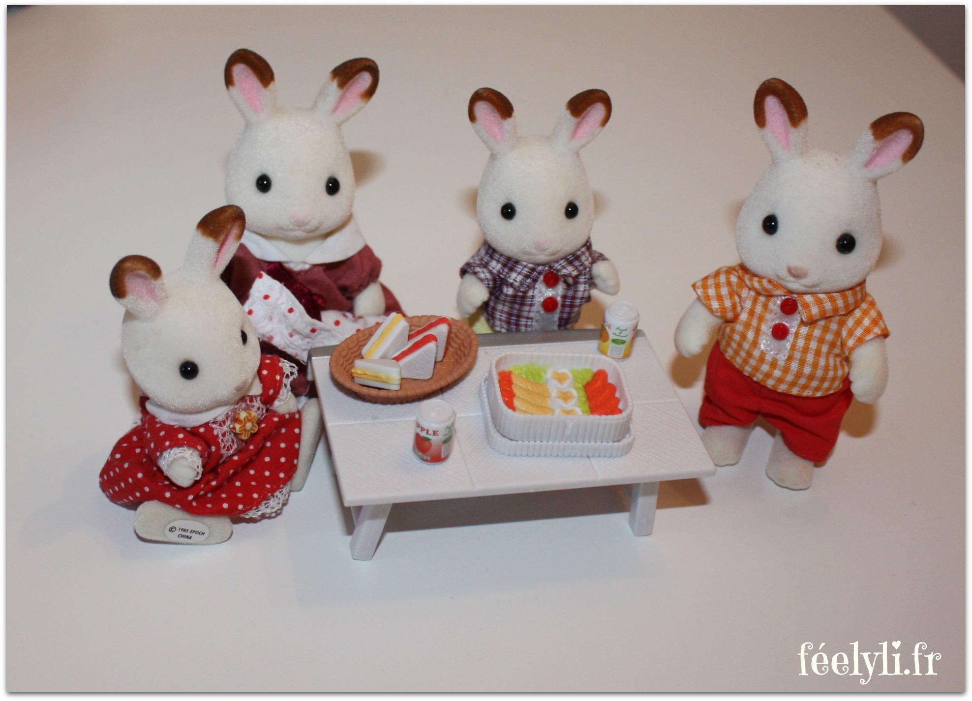 famille lapin chocolat sylvanian