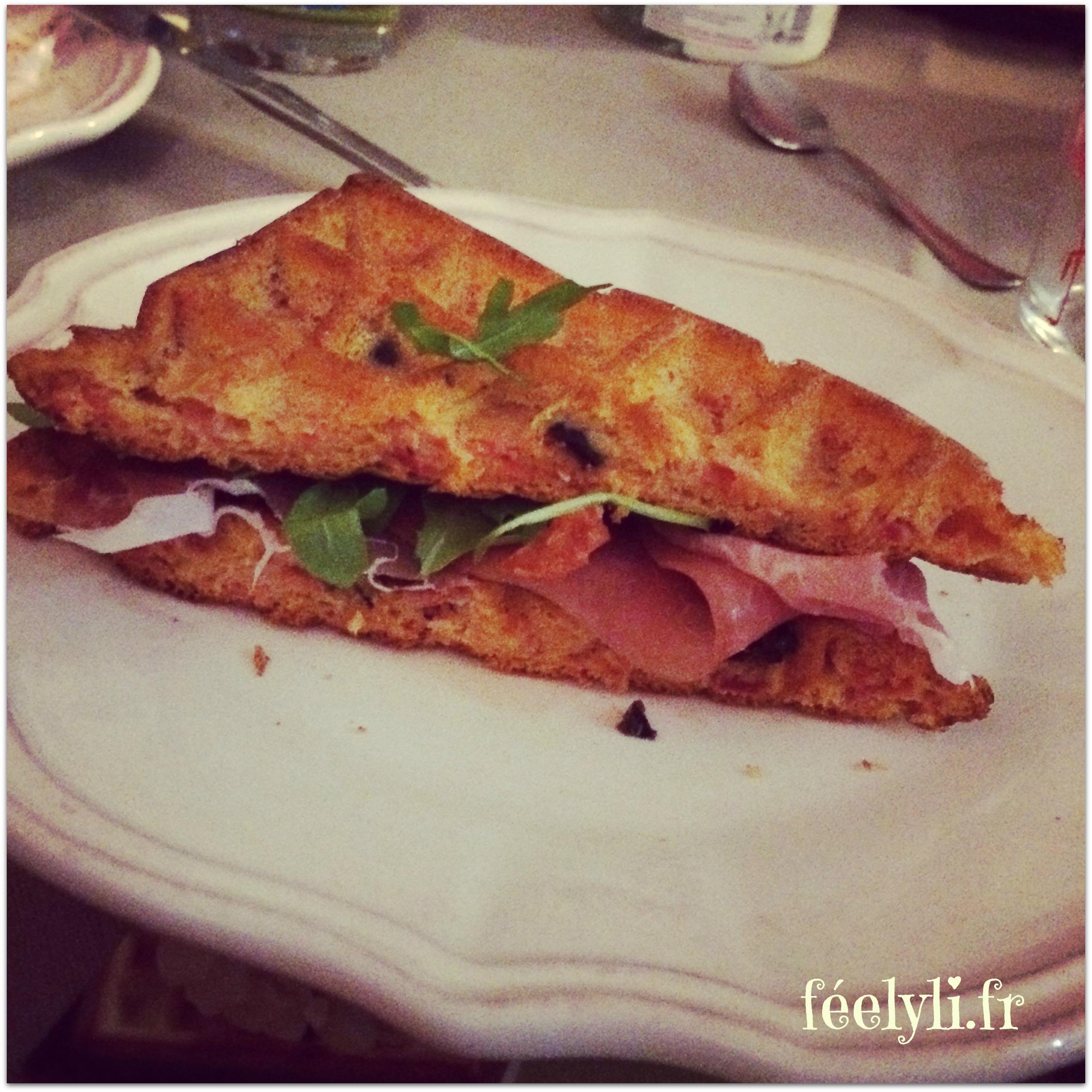sandwich gaufre italien