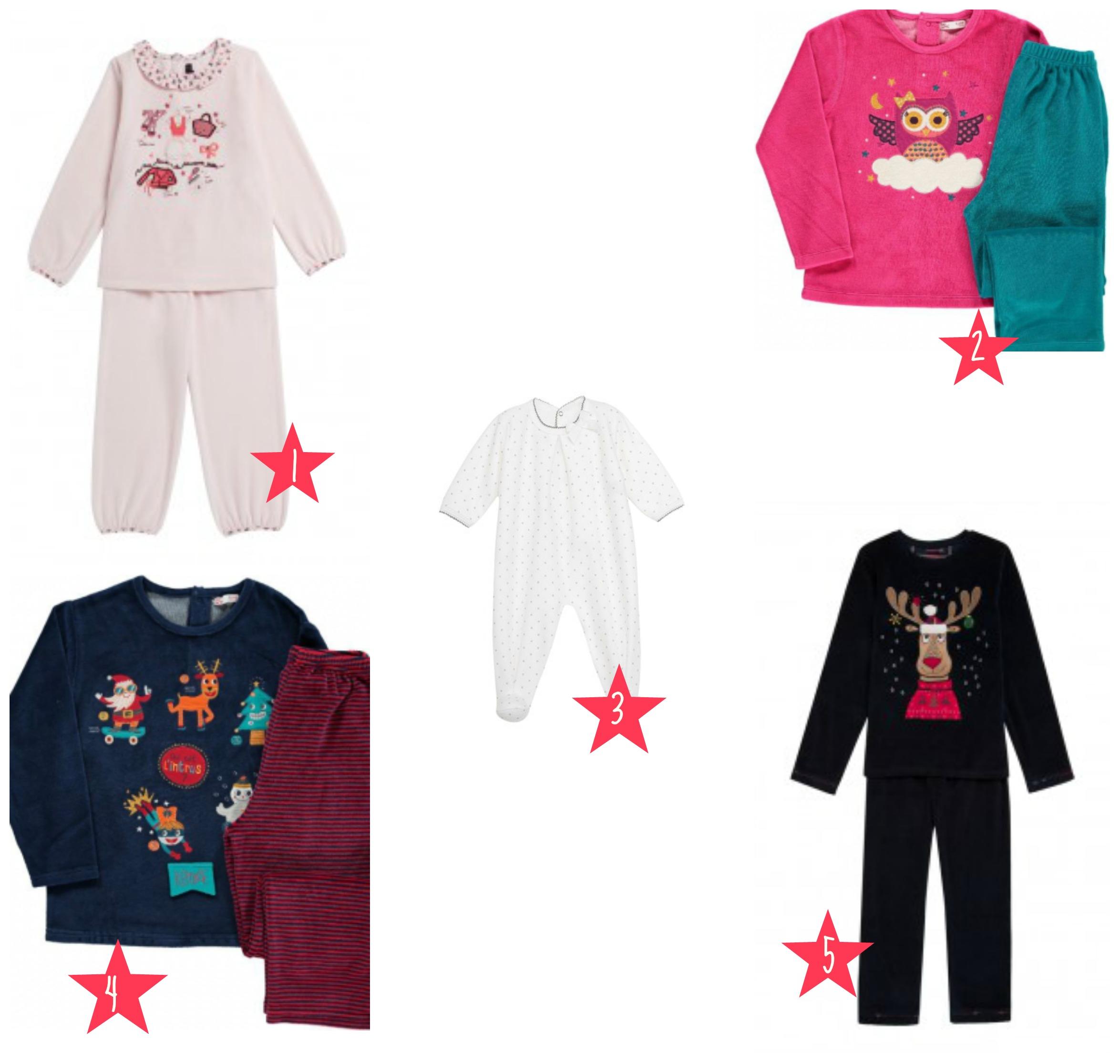 selection pyjamams de noel
