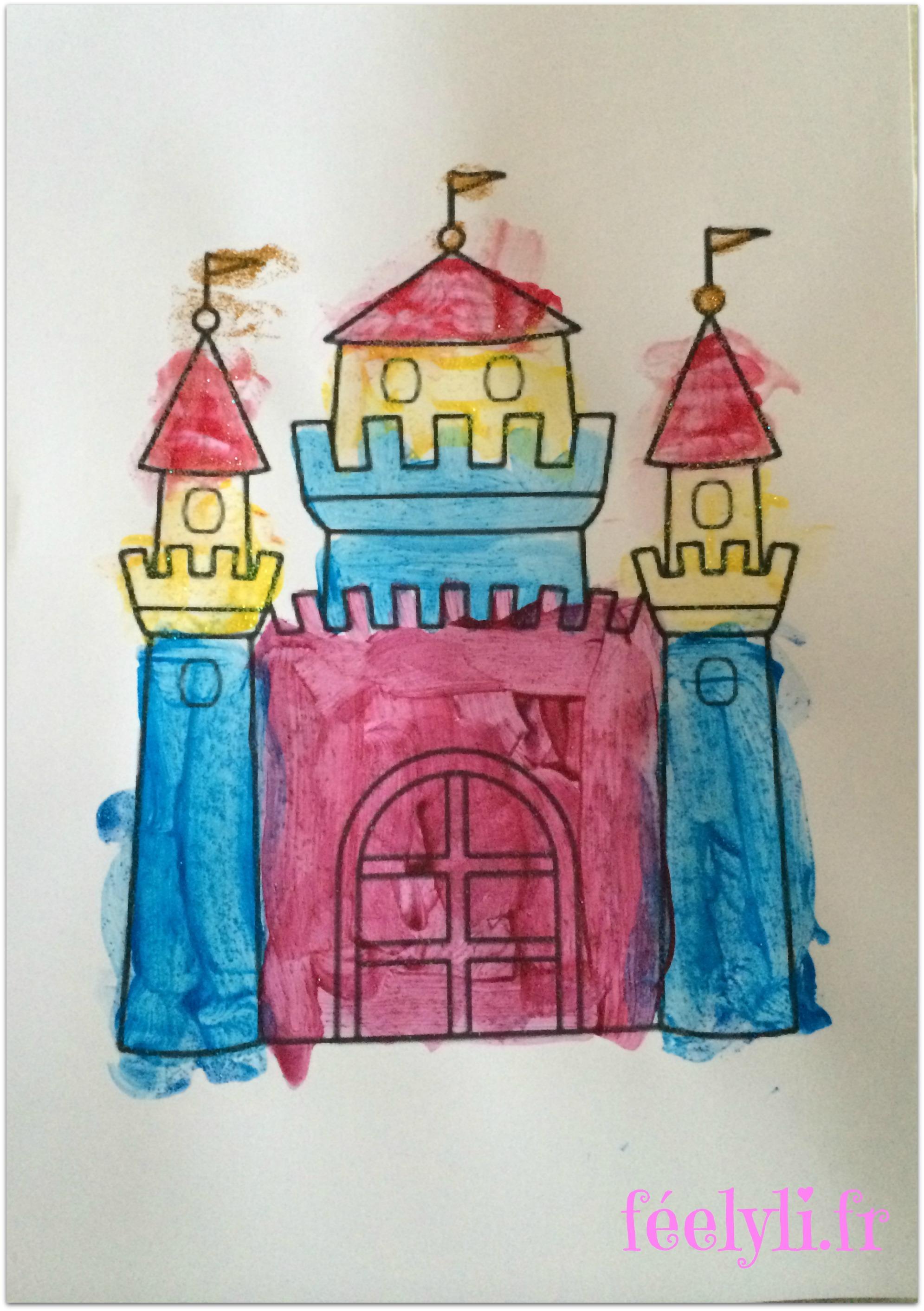 chateau peinture enfant