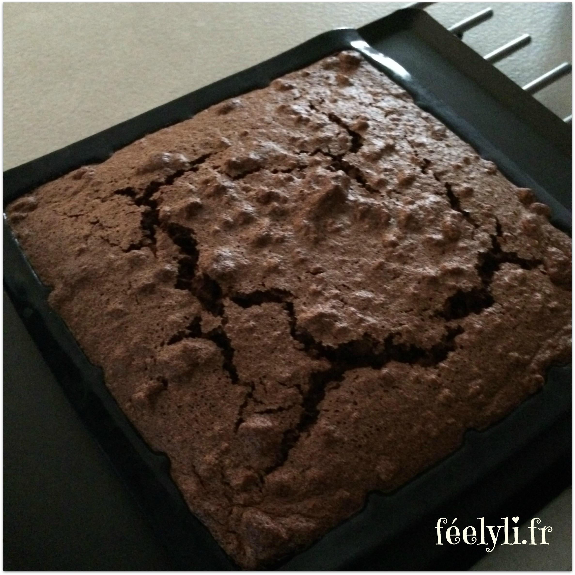 gâteau magique chocolat à sortie du four
