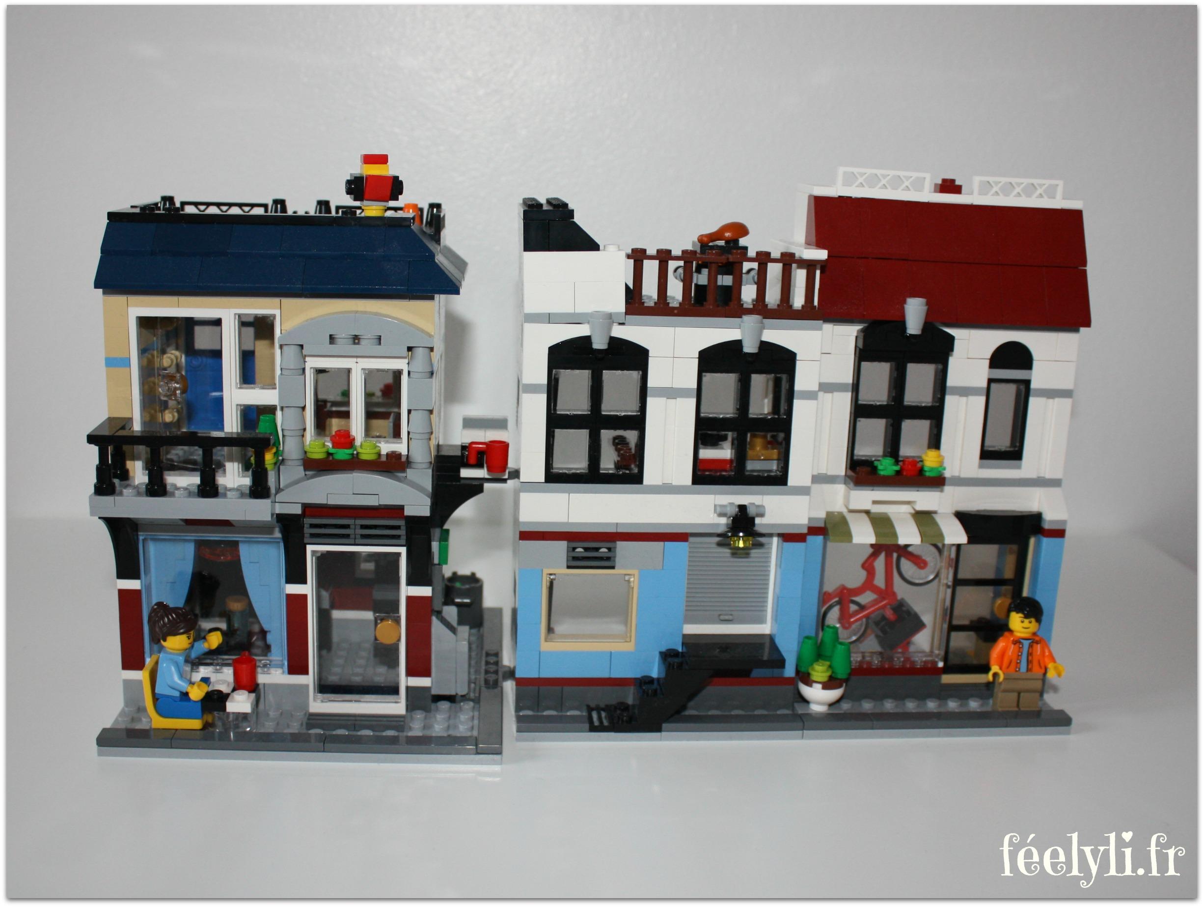 magasin de vélos et café lego creator