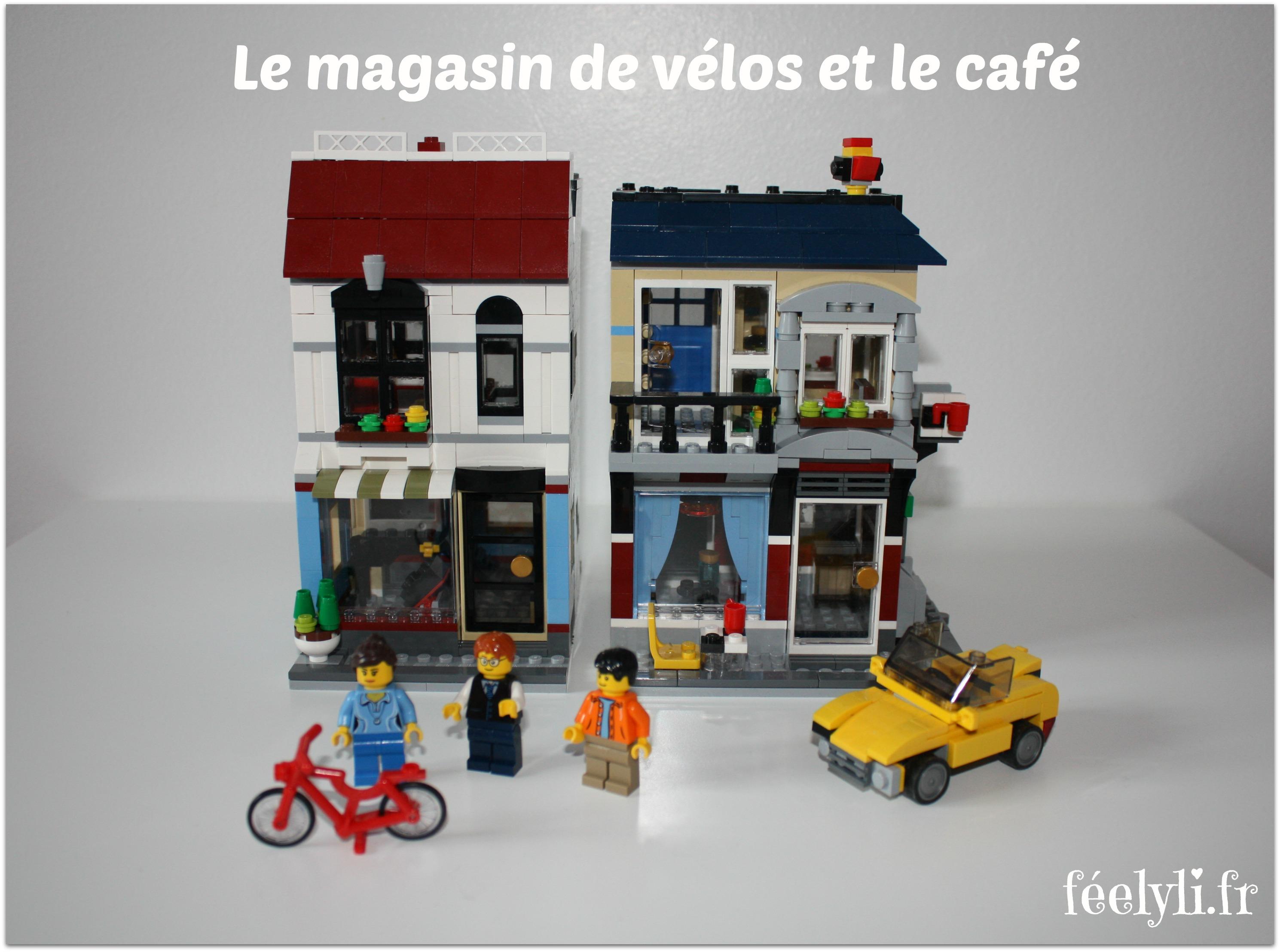 magasin de vélos et café lego
