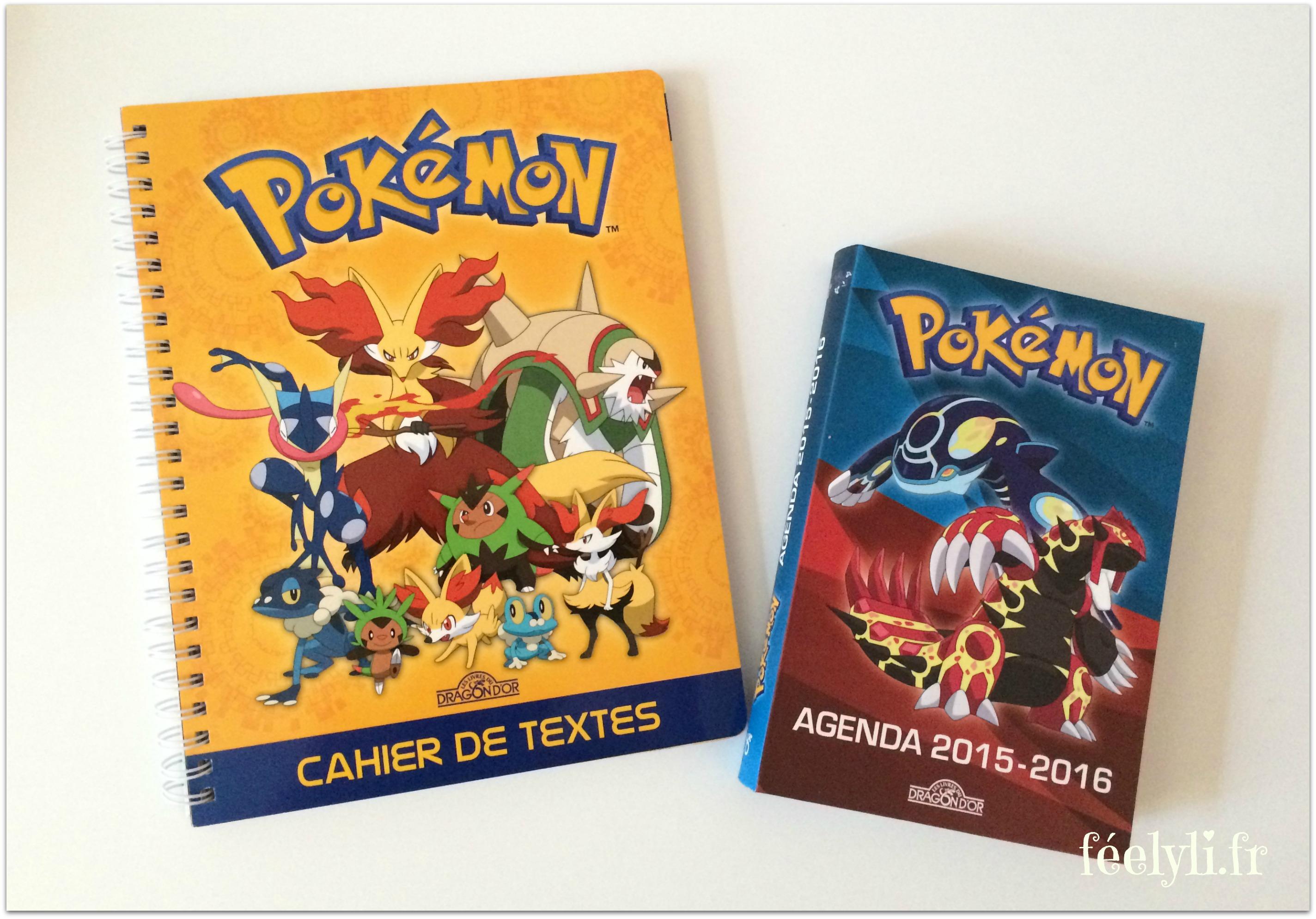 cahier de texte et agenda pokemon