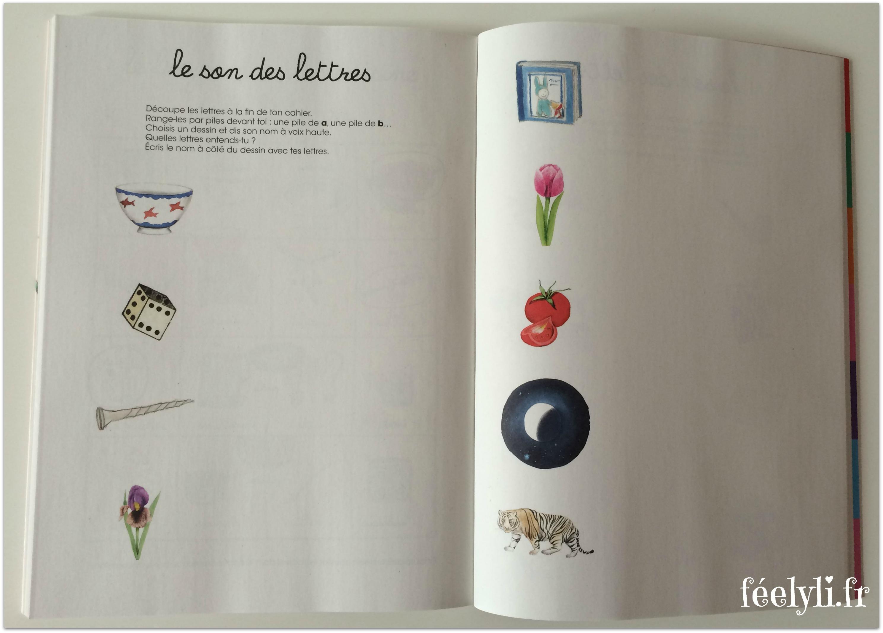 cahier lettres montessori
