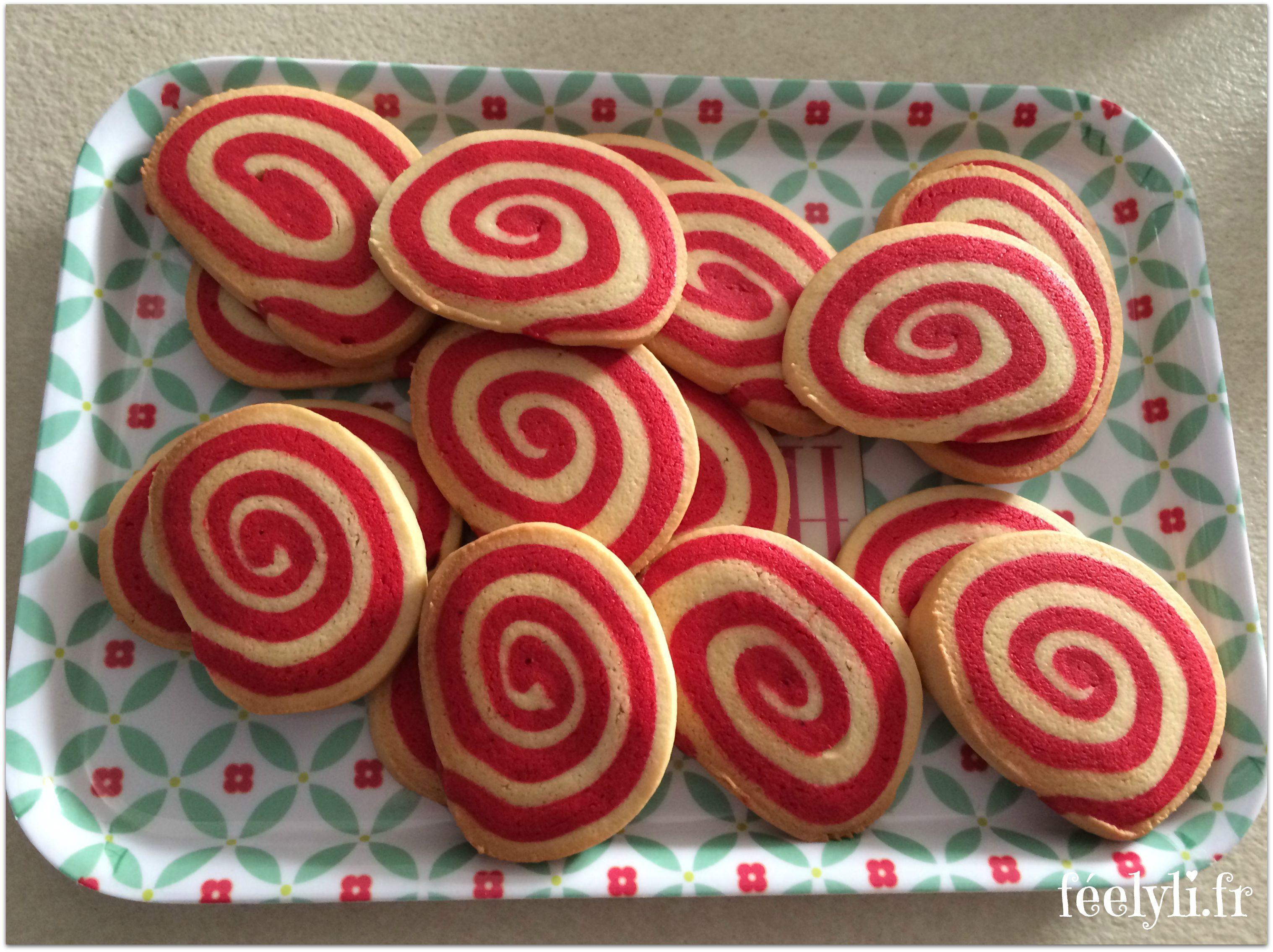 sablés roulés fraise