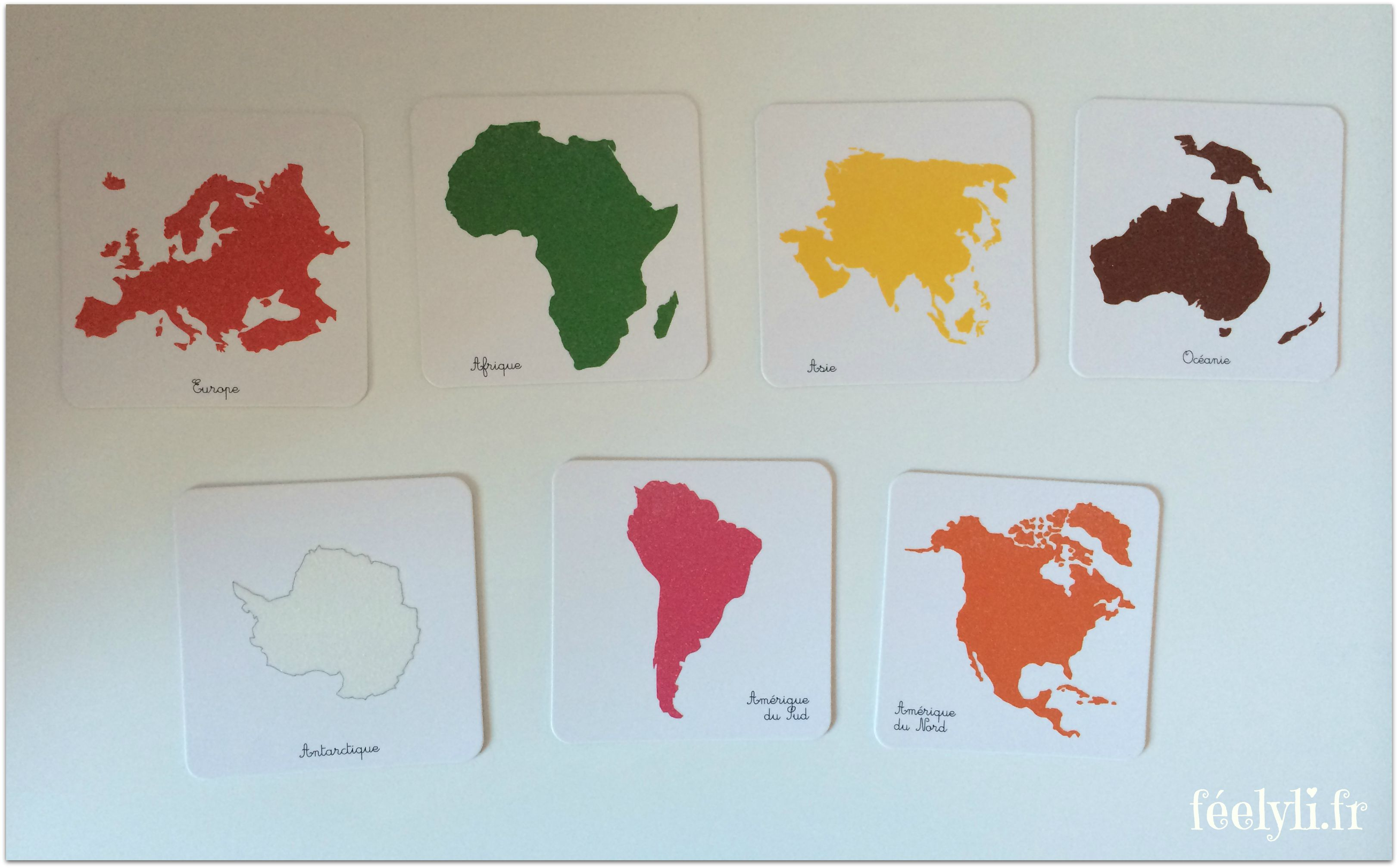 coffret montessori continents