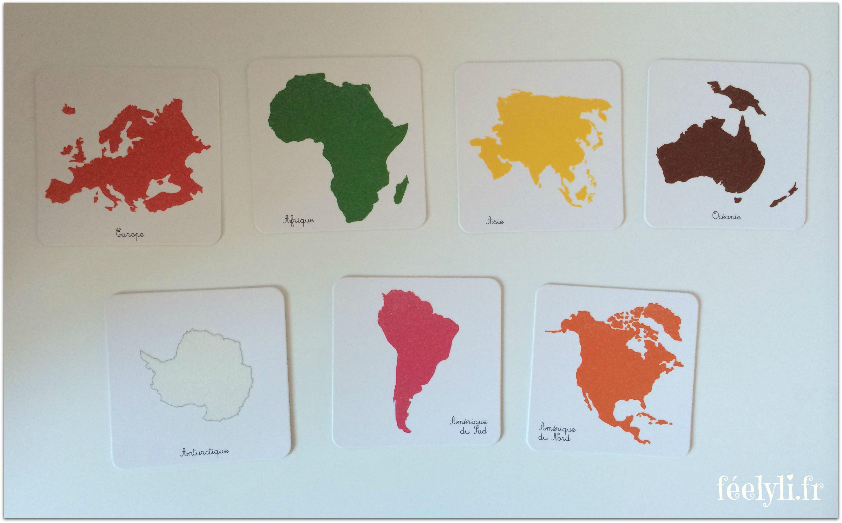 coffret montessori continents