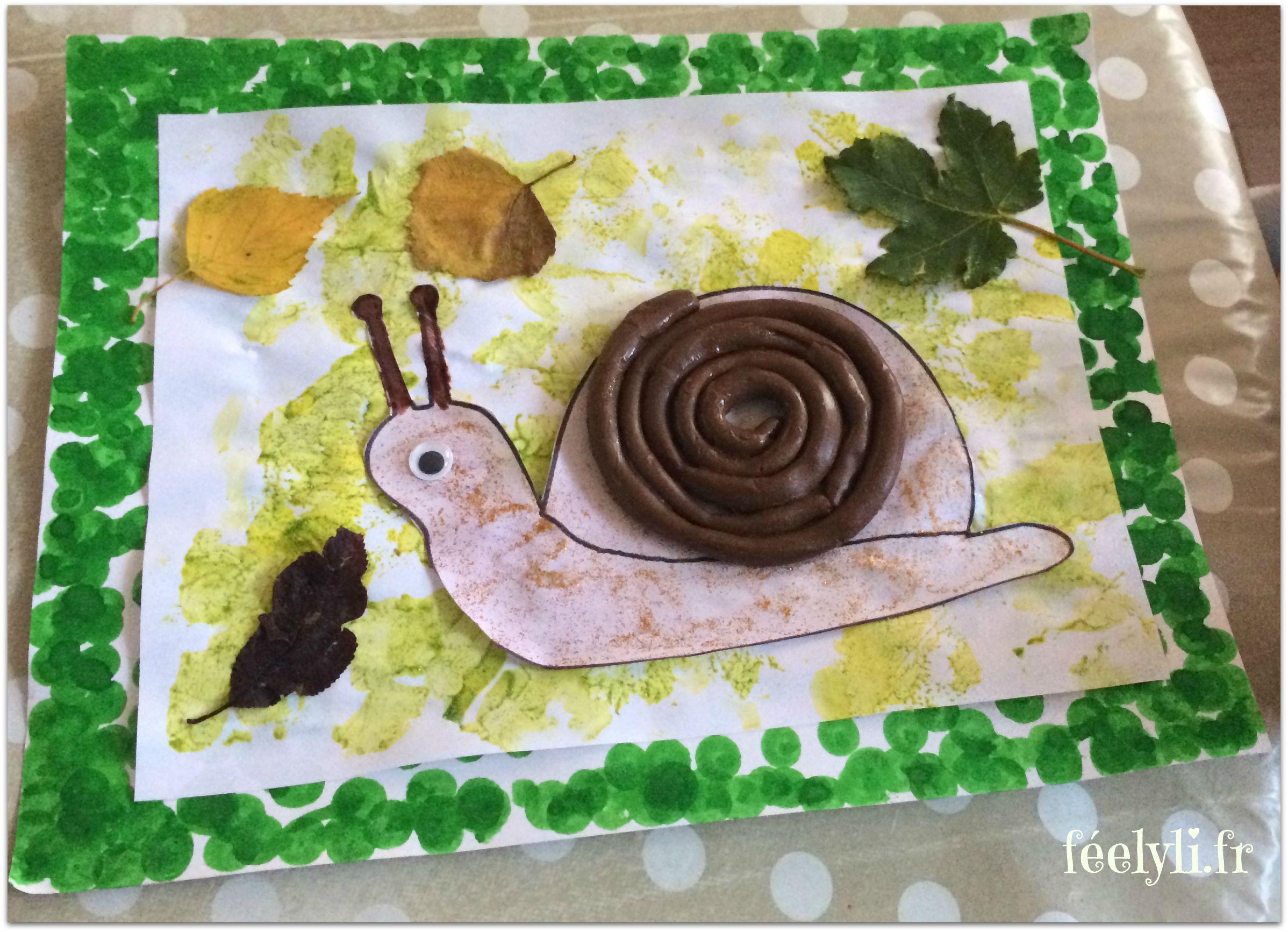 escargot pâte a modeler