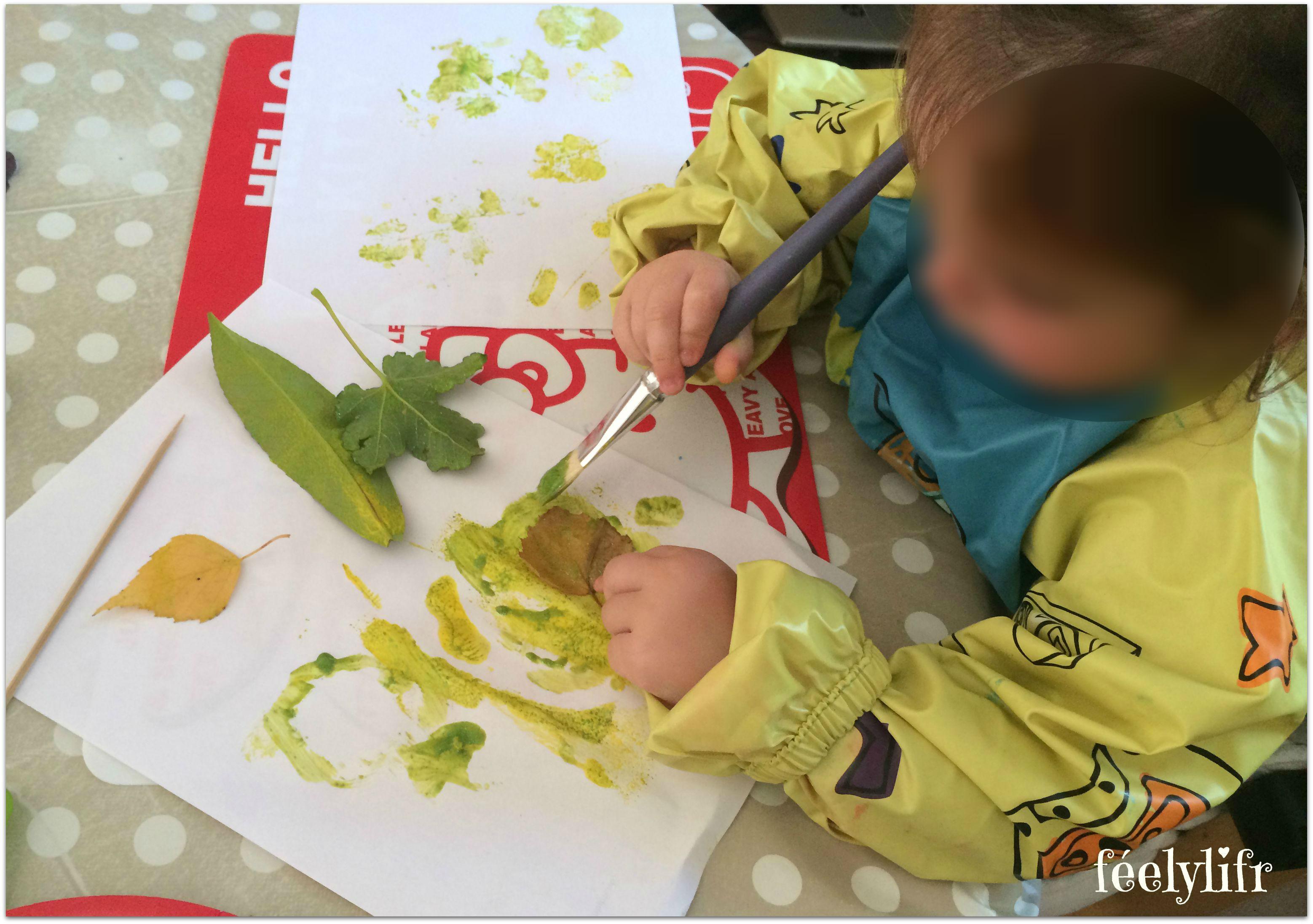 feuilles et peinture