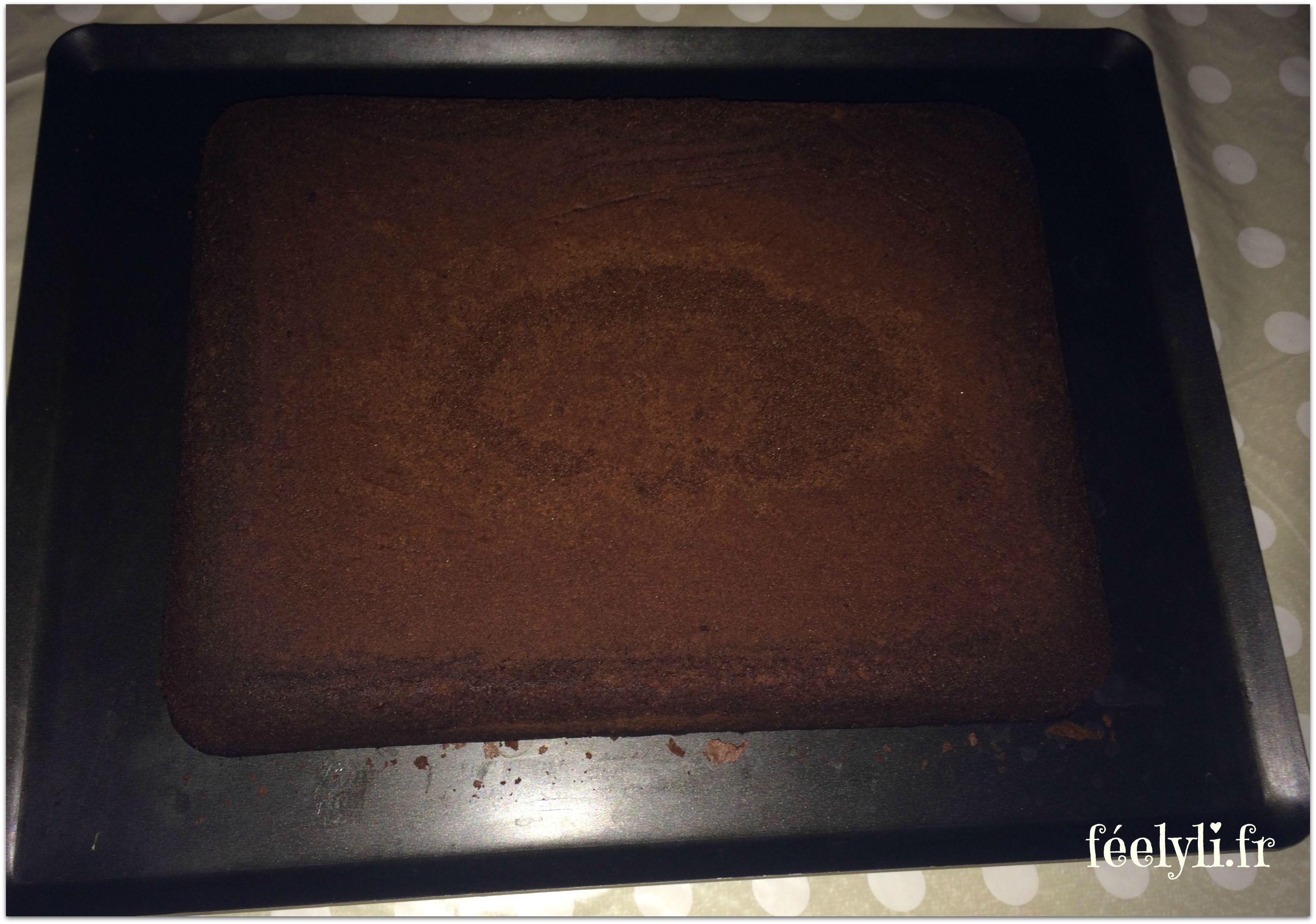 gâteau au chocolat rectangulaire
