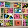 boites de perles en bois