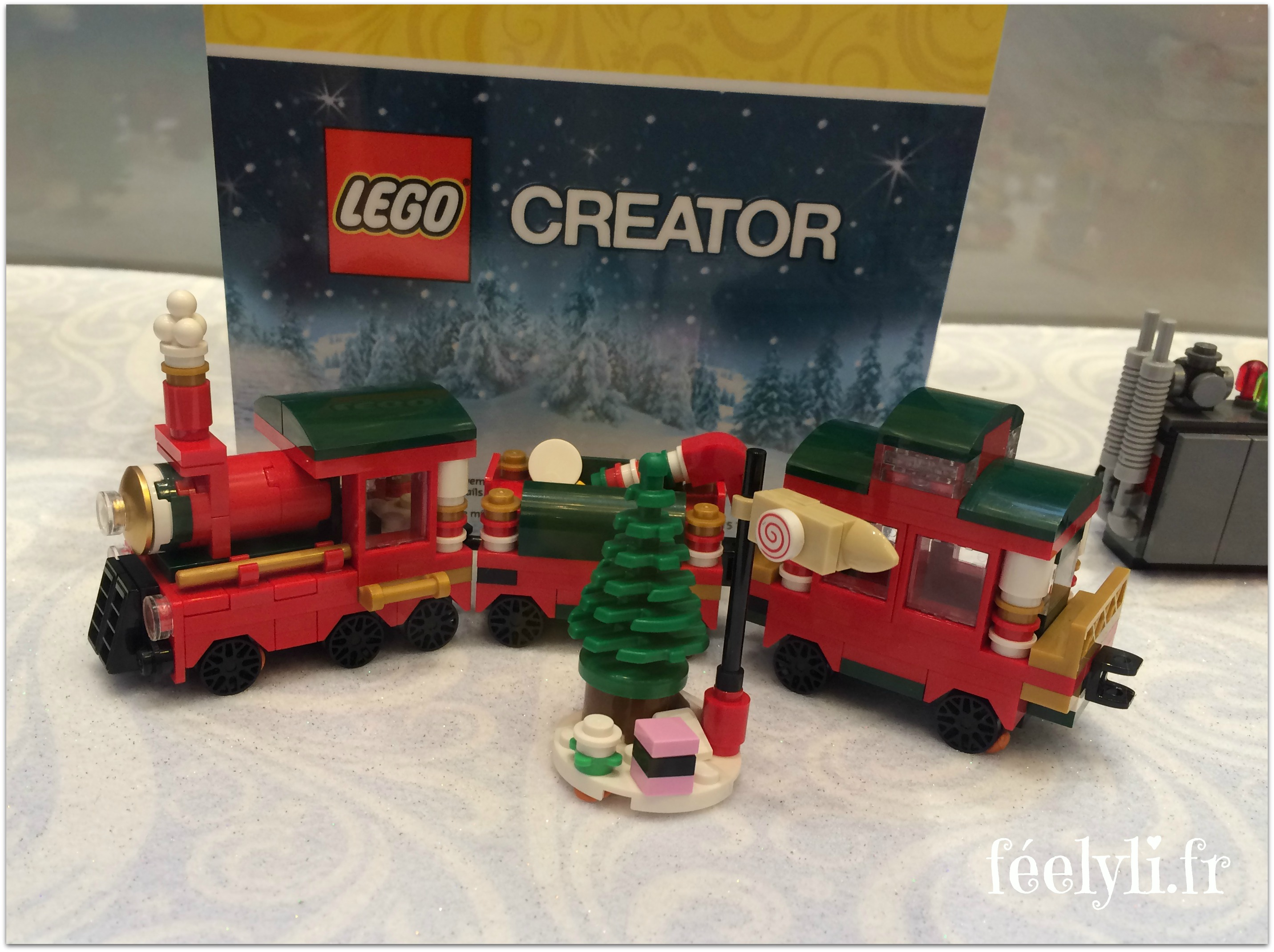 petit train de noel lego