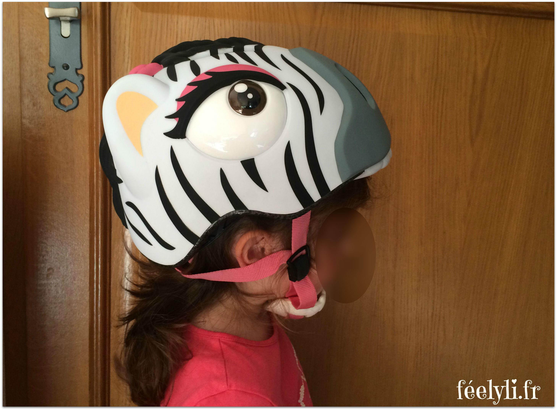 casque zebre