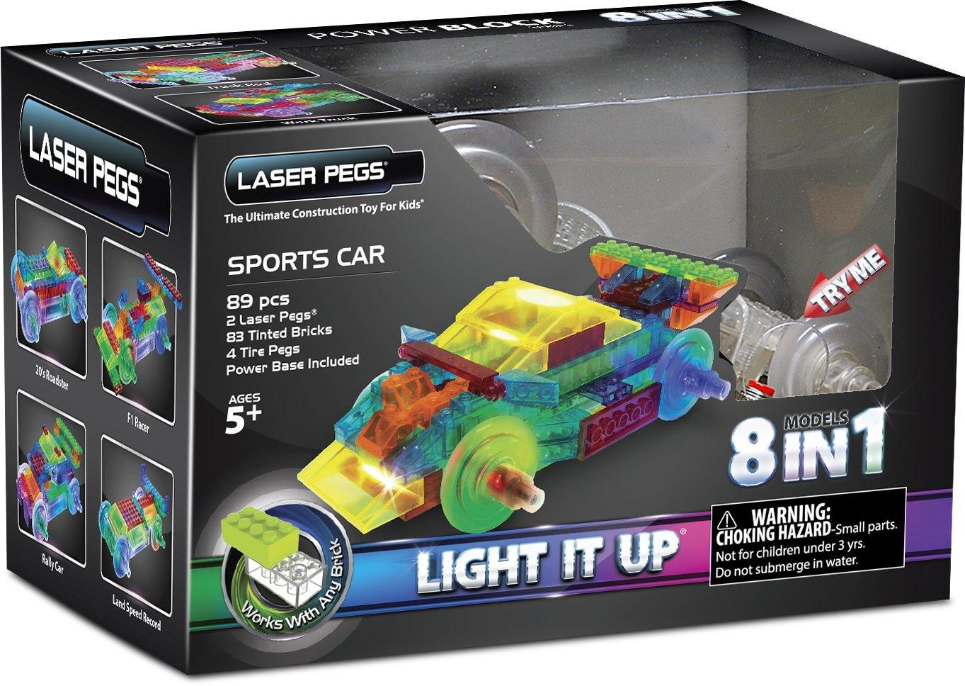 voiture de sport laser pegs