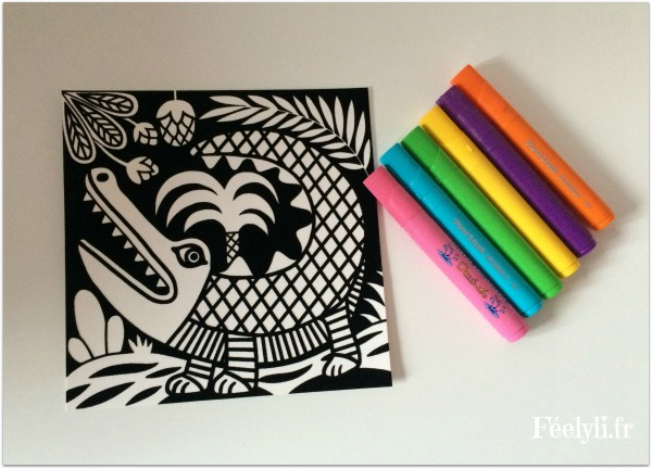 crocodile coloriage velours