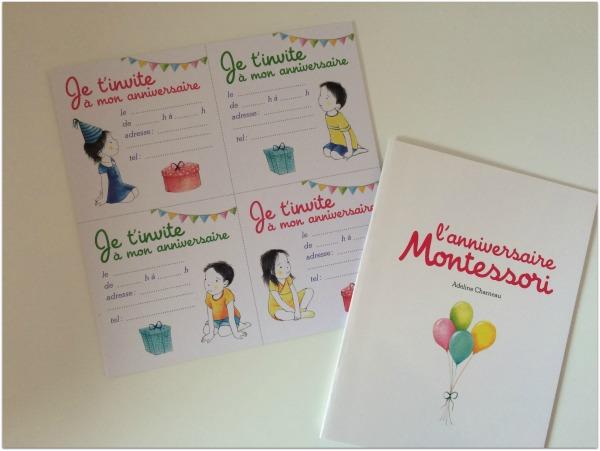 invitations anniversaire montessori
