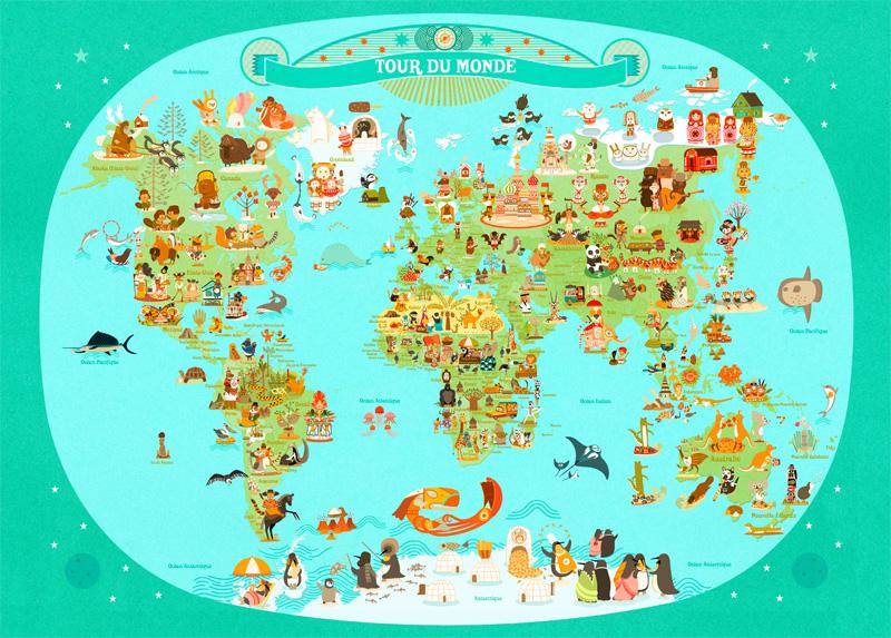 affiche-carte-monde-mercier