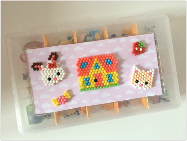 diy bo te de rangement pour accessoires sylvanian families en aquabeads f elyli. Black Bedroom Furniture Sets. Home Design Ideas