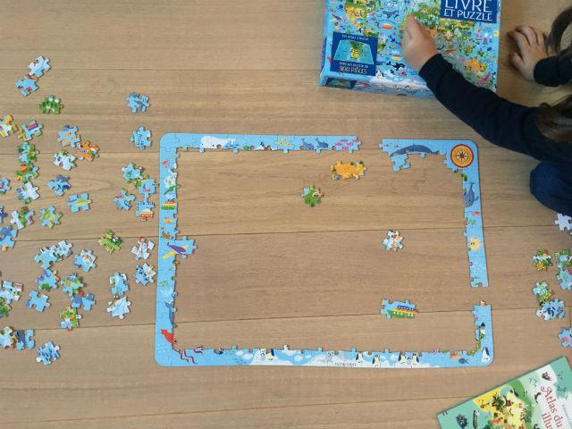 Coffret livre et puzzle atlas du monde